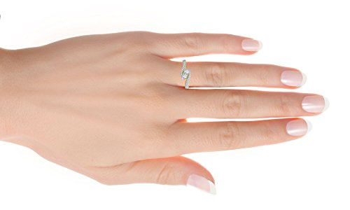 1/4 Cttw Diamond Two Stone Engagement Ring in Sterling Silver