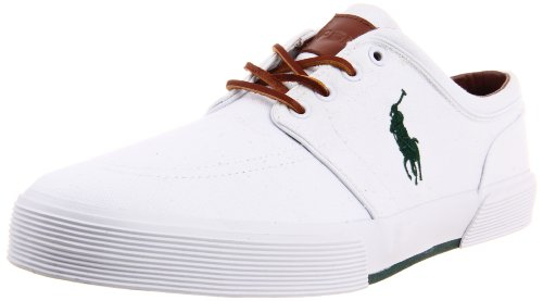 - Polo Ralph Lauren Men's Faxon Low Sneaker,White Canvas,11.5 D US