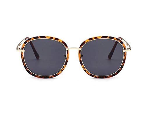 Protection Leopard Mode Lunettes Foncé Huyizhi Lentille de Grey Lunettes Conduite Cool Soleil Dark Lunettes Femmes UV400 Gris Hommes voyager Soleil Cadre de aqI46gn