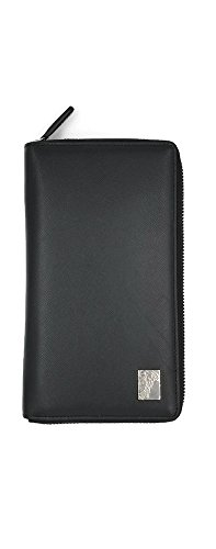 Versace Unisex Executive International Travel Wallet Leather (Black Saffiano) by Gianni Versace