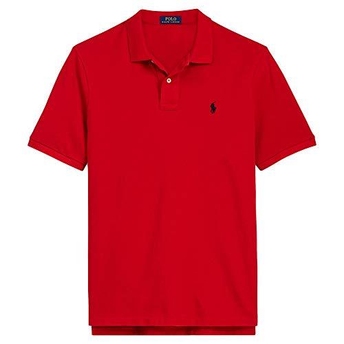 Ralph Lauren Shirt Men's Big and Tall Pique Cotton Shirt (2XLT, Red)