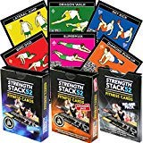 (Stack 52 Bodyweight Exercise Cards Tri Pack: Strength Workout Playing Card Game. Designed by a Military Fitness Expert. Video Instructions Included. No Equipment Needed. at Home Training Program.)