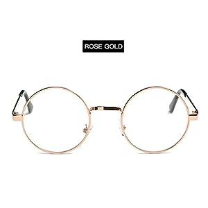 Round Steampunk Shade MultiColor Gradient Mirror Lens Goggles Vintage Sunglasses