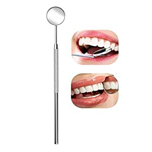Dental Mirror Inspection Mirror Makeup Mirror Teeth Cleaning Tool Stainless Steel Dental Tools for Personal and Pet 8