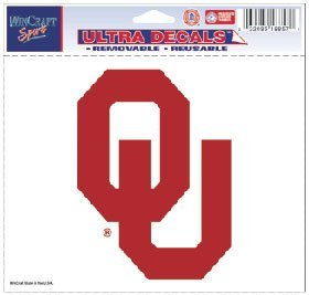 WinCraft Oklahoma Sooners Removable 5x6 Car Decal