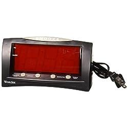 Westclox 66705 Large LED Alarm Clock, Red Display