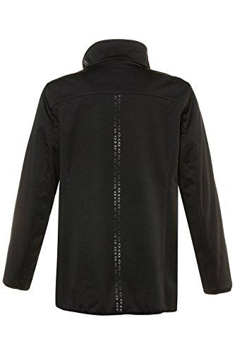 Popken Triangle Size Plus Stripe Women's Softshell Jacket 714785 Black Ulla PIdqwTT