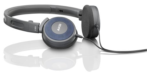 AKG K 420 Foldable Mini Headphone - Blue (Discontinued by Manufacturer) (Akg Folding Headphones)