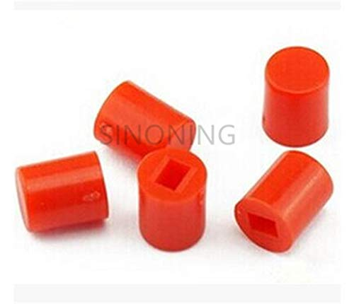 (Part & Accessories 100PCS 6X7MM round red button cap Suitable for 8.5X8.5/8X8 series self-locking switch hat)