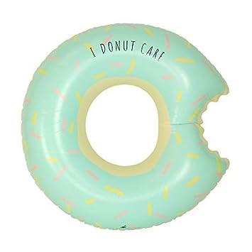 Flamingueo Homer - Flotador Donut, Flotador Gigante Donut, Colchoneta Hinchable, Flotadores Piscina para Adultos, 120x120 cm