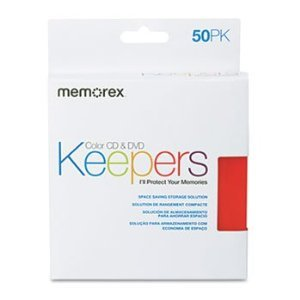 Memorex Cd / Dvd Sleeves - Keeper, CD/DVD, Cool, 50/pk