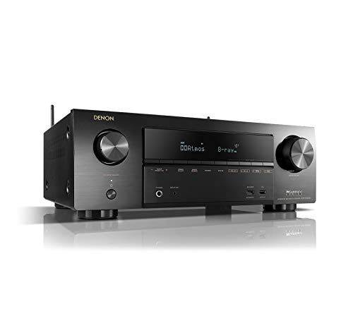 Denon AVR-X1500 Receiver - HDR10, 3D video support | 7.2 Channel (80W per channel) 4K Ultra HD Video | Home Theater Dolby Surround Sound | Music Streaming System with Alexa Control