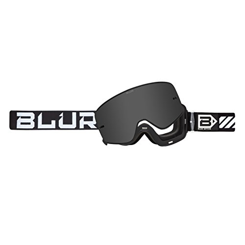 Blur B-50 Force Goggle with Magnetic Silver Mirror lens, Black ()