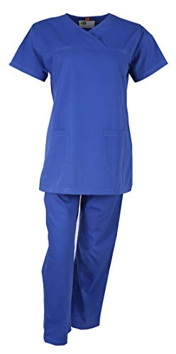 UNIFORM CRAFT Womens Scrub Suit – Ideal for Doctors, Nurses, Dentists and Healthcare Professionals (XL, BRIGHT BLUE) Price & Reviews