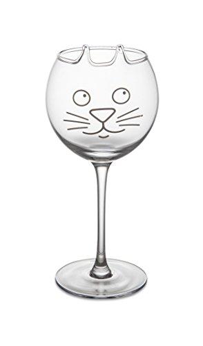 BigMouth Inc Purrfect Wine Glass, Cat Wine Glass, Cute Novelty Wine Glass, 10.5 inches Tall, Wine Glass with Cat Face (Cat A Wine Glass In)