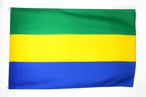 GABON FLAG 3' x 5' - GABONESE FLAGS 90 x 150 cm - BANNER 3x5 ft - AZ FLAG