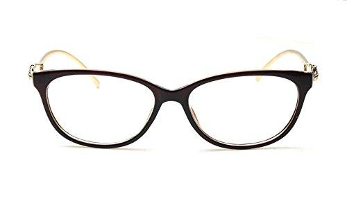 Caixia Women's SJT-9188 Plastic Frame Cobra Accent Cateye Glasses Small Size 0)