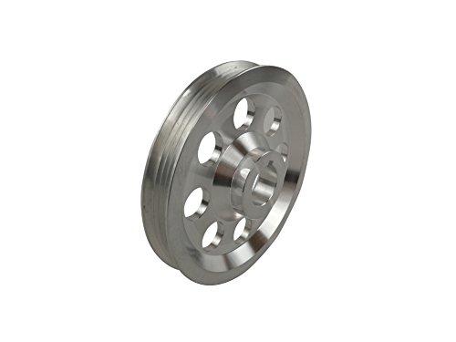 Underdrive Aluminum Pulley Single Belt for Honda Civic CRX Del Sol ZC D15 D16 Polished ()