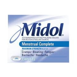 Midol Max Strength Caplet 16 Count (3-Pack)