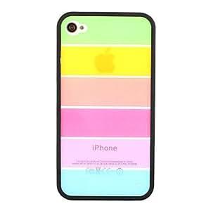 GDW Modelo del arco iris protector durable duro caso para iPhone 4/4S (colores surtidos) , Rose