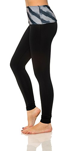 Women's Active Workout Printed Capri Leggings Yoga Pants Fitted Tights Plus Size (X-Large, Gray 2212)