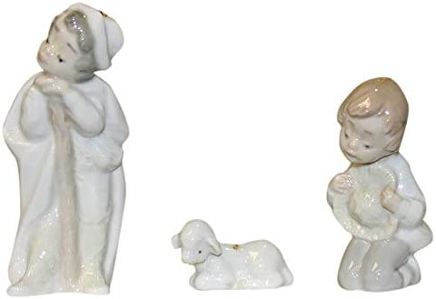 Lladro Porcelain Mini Holy Shepards and Sheep 5809