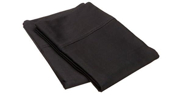 2 Standard Black Solid Marrikas 300TC 100/% Rayon from Modal Pillowcase Pair