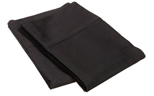 Marrikas 300TC Egyptian Cotton PillowCase Pair (2) STANDARD SOLID BLACK