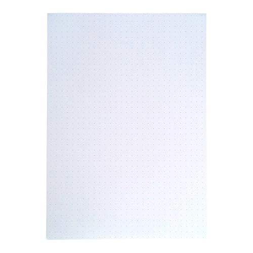 A5 Dot Grid - WHITE - Loose Leaf Filler Paper For Ring Binder Notebook Planner Inserts - Unpunched Refills - 100 Sheets, 200 Pages, - Dot Paper Grid
