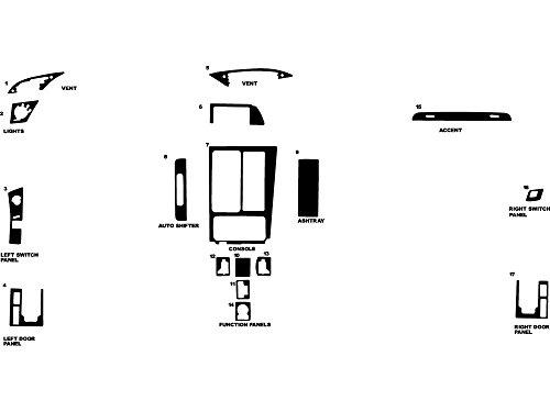 - Rdash Dash Kit Decal Trim for Chevrolet Corvette 1994-1996 - Wood Grain (Walnut)