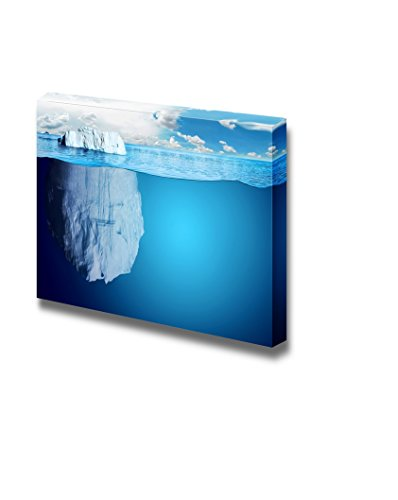 Underwater View of Iceberg with Beautiful Polar Sea Wall Decor ation