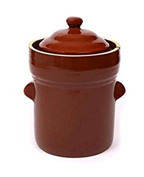 Boleslawiec 15 L Polish Fermenting Crock Pot - PRESSING STONES INCLUDED ()