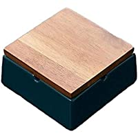 Baoblaze Ashtray with Lid Ashtray Square Cigar Ashtray Ceramic for Office Great Looking Durable Decor - Green, 9.8×9.8×5…