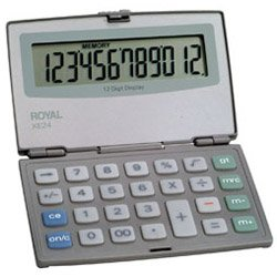 ROYAL XE24 12 DIGIT LRG - LQ-FOLDING COMPACT CALC by ADLER ROYAL