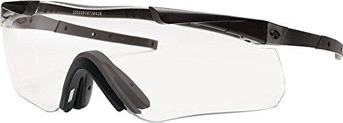 (Smith Optics Elite Aegis Echo II Eyeshields Sunglass with Black Frame and Clear/Gray Lenses)
