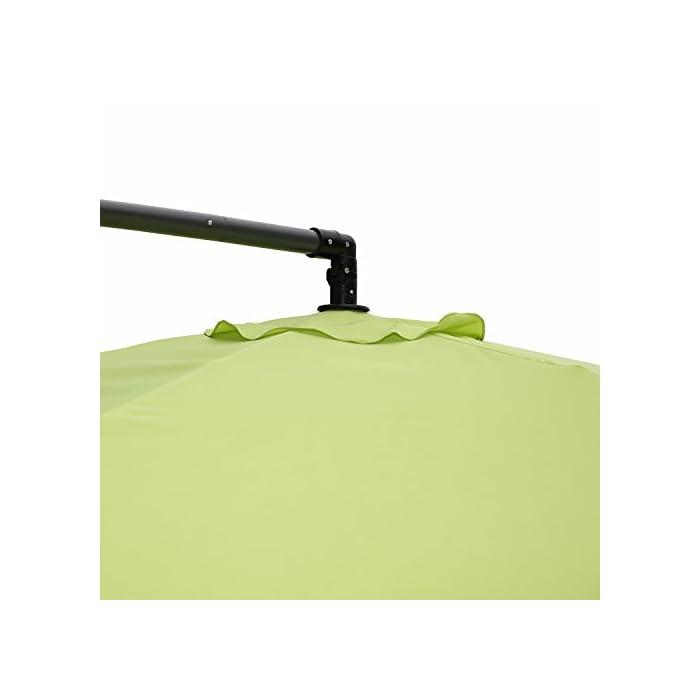 31zw1rBibSL Repelente al agua y UV – Protección UV y repelente de agua. Fácil Inclinación funcionamiento, hand-crank Lift Heavy Duty acero Cruz base para stabilityideal para uso residencial y comercial