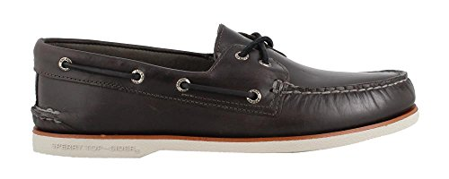 (Sperry Top-Sider Gold Cup Authentic Original Orleans Boat Shoe Men 11.5 Charcoal)