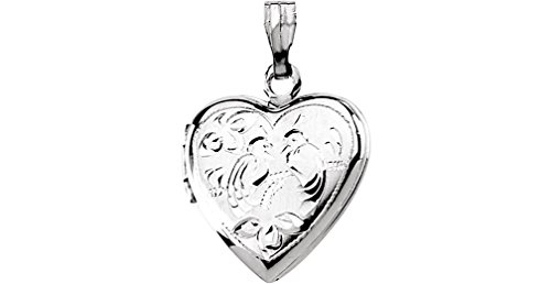 Petite Sterling Silver Heart Locket with Two Love Birds by The Men's Jewelry Store (for HER)