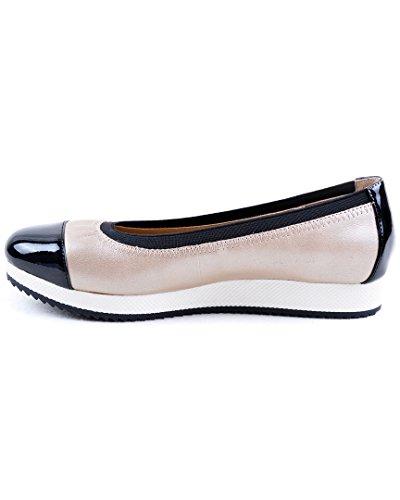 Taupe Women's Vittadini Footwear Ballet black Adrienne Gilsa Flat TZnWYYP