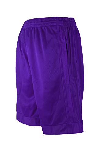 North 15 Men's Athletic Basketball Lightweight Shorts with Side Pockets-3020-Purple-3XL