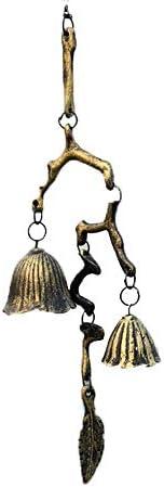 アンティークマグネットドアベル 支店ドレープ風チャイムドアベルレトロ鍛鉄キャストアイアンオーナメントベル マグネットドアベル (色 : Brass, Size : One size)