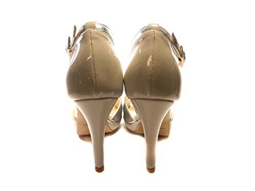 MONOGO 7204 - Sandalias de vestir de Piel para mujer * plateado