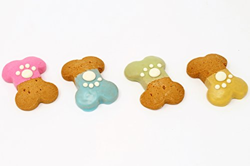 (Claudia's Canine Bakery - Party Bones with Paw Print - 24 Gourmet Dog)