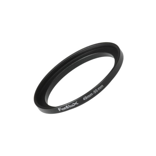 Fotodiox Metal Step Up Ring Filter Adapter, Anodized Black Aluminum 49mm-55mm 49-55 mm