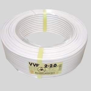 富士電線 カラーVVFケーブル 2.0mm×2心 100m巻 (白) VVF2.0mm×2C×100mシロ B003NBX0QO