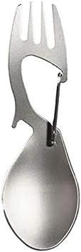 WOVELOT 3 In 1 Camping Picnic Titanium Spoon Tableware Titanium Fork Ultralight Pure Titanium Or Stainless Steel Spork Titanium