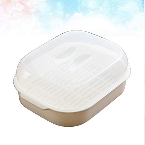 31zw8a3TWJL. AC UPKOCH Microwave Food Steamer Cooking Steamer Basket for Fish Vegetable Buns(Random color)    Description