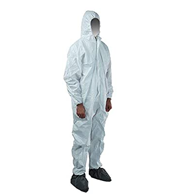 Qiansou Disposable Protective Coverall with Hood
