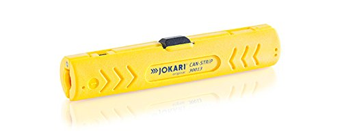 JOKARI 30013 Can-Strip Aviation Data Bus Twisted Pair Cable and Wire Stripper, Yellow