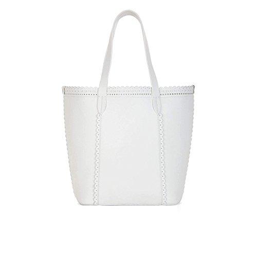 BCBG Blythe Tote Shoulder Bag,White,One Size